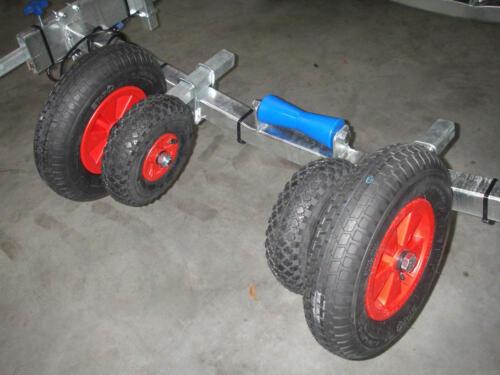 Støttehjul til bådtrailer